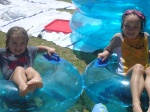 Ceili and Aislin in the Pool on Spring Break